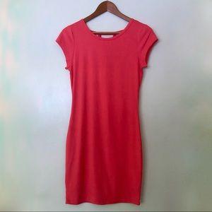 Hot Kiss Pink BodyCon Dress w/ Back Cutout